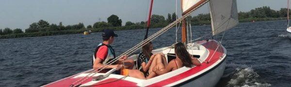 Kielboot zeilen Zeilschool de Biesbos