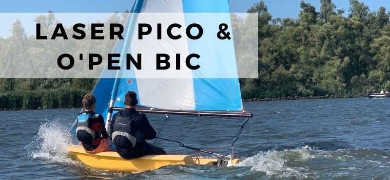 Laser Pico en Open Bic zeilen